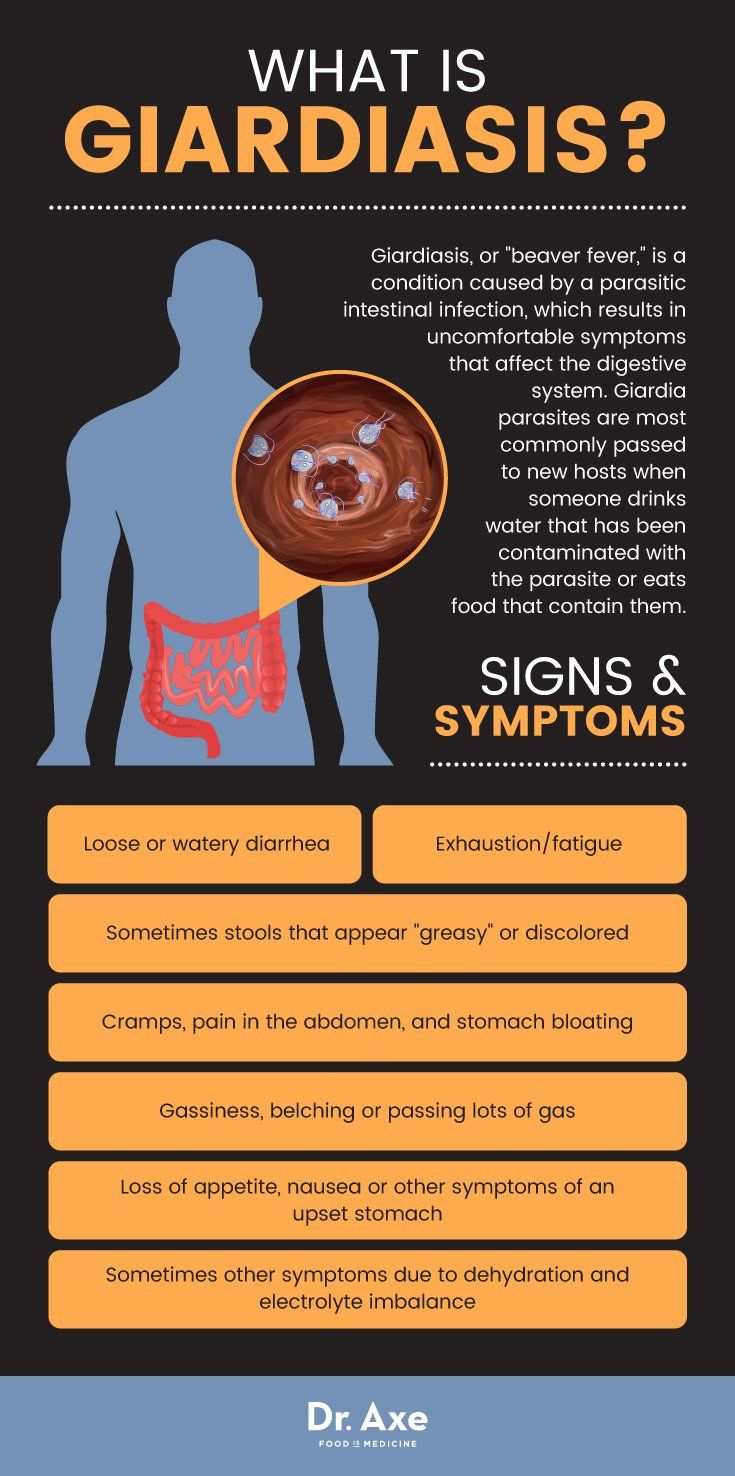 giardiasis symptoms human